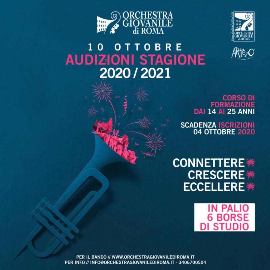APERTE LE ISCRIZIONI PER LE AUDIZIONI  STAGIONE 2020 – 21 DELL' ORCHESTRA SINFONICA