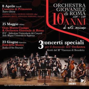 3 concerti speciali per i 10 anni dell'Orchestra Giovanile di Roma